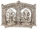 Ovin Brass Ganesh Lakshmi Frame - (21.59 Cms X 5.08 Cms X 16.51 Cms, Black & White)