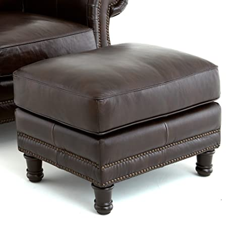 Steve Silver Chateau Leather Ottoman -