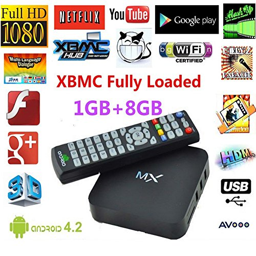 Live Streaming Channel Mx Tv Box Android 4.2 Dual Core 1g RAM 8g Amlogic 8726 A9 Hdmi Wifi Dlna Google Smart Mini Pc Pre-load Xbmc and Over 600+ Free Channel