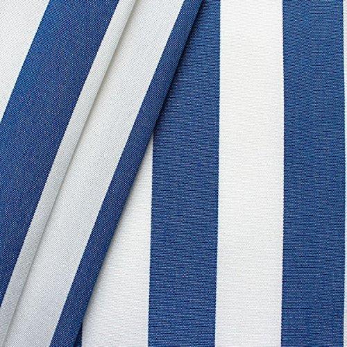 Markisen Outdoor Stoff 'Streifen' Meterware Breite 160cm Blau-Weiss