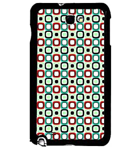 Printvisa Green And Blue Square Pattern Back Case Cover for Samsung Galaxy Note i9220::Samsung Galaxy Note 1 N7000