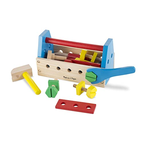 Melissa & Doug Wooden Take Along Tool Kit (24pc)