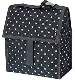 PackIt Freezable Lunch Bag with Zip Closure, Polka Dots