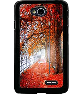 ColourCraft Beautiful Scenery Design Back Case Cover for LG L70