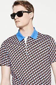 Short Sleeve Interlock All Over l Print Polo Shirt