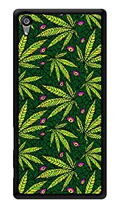 """Humor Gang Grass Pattern Trippy Printed Designer Mobile Back Cover For """"Sony Xperia Z5"""" (3D, Glossy, Premium Quality Snap On Case)"""