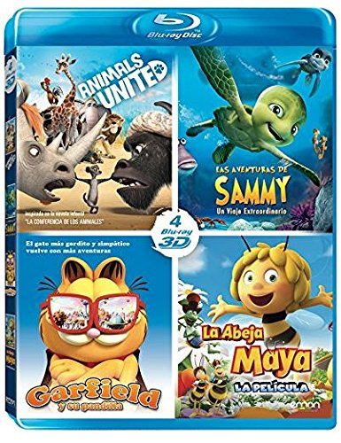 Pack Animales 3D: Las Aventuras De Sammy + Animals United + Maya + Garfield [Blu-ray]