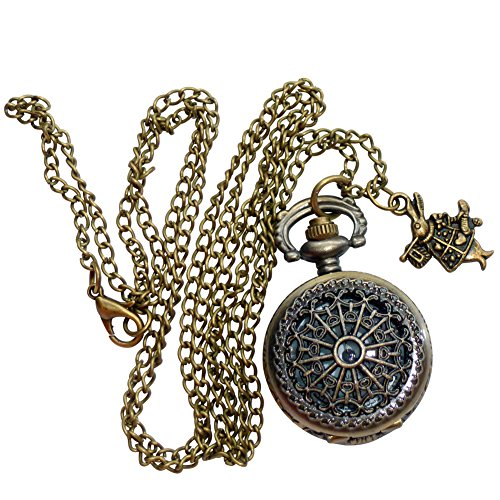 UmbrellaLaboratory Women's Alice In Wonderland Teaparty Pocketwatch Necklacesrr