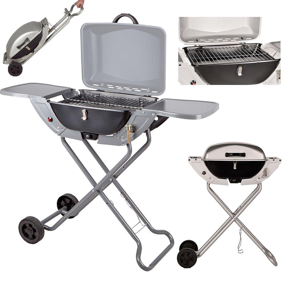 (riya@)2 IN 1 – 50mbar GASGRILL Standgrill BBQ Tischgrill Camping Gas Grill Klappgrill bestellen