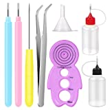 FENGWANGLI 8PCS Paper Quilling Kits Handmade Rolling Curling Quilling Needle Pen for Art Craft DIY Paper Multifunction DIY Paper Cardmaking Project Tools Set (Color: 2)