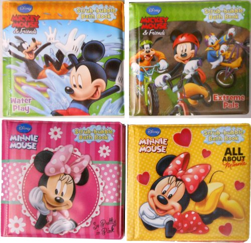 Disney® Bath Time Bubble Books Featuring Mickey Mouse, Minnie Mouse and Friends (Set of 4)