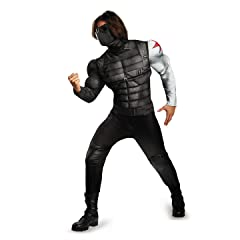 Disguise Mens Marvel Winter Soldier Classic Muscle Costume