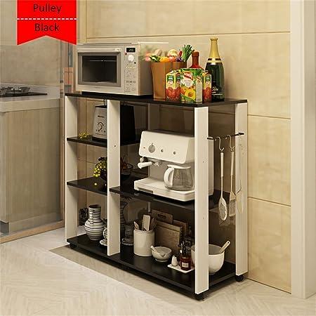 Haushaltsgegenstände Abnehmbare 3-lagige Kuche Microwelle Ofen Regal Kuche Topf Mehrschicht-Lagerung Boden Ofen Rack -CRS-ZBBZ ( Farbe : #8 )