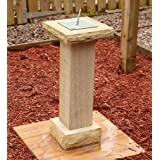 Garden Sundial - Lancashire Natural Sandstone Verdigris Stone Sun Dial