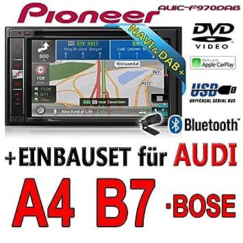 Audi a4 b7 pioneer aVIC-f970DAB-multimedia 2DIN navigation dAB autoradio avec antenne de montage