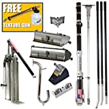 Drywall Master Professional Taping and Finishing Tool Set Plus FREE LACO Texture Patch Gun - King Taper, 10