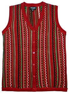 Ugly Christmas Sweater - The Kosby Christmas Sweater Vest in Red