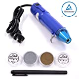 mofa Heat gun,Mini Hot Air Gun Tools Shrink Pen with Stand For DIY Embossing And Drying Paint Multi-Purpose Electric Heating Nozzle 130W 110V (Blue) (Color: Blue)