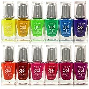 12pc Nabi Gel Nail Color Neon Nail Polish set of 12 color #NG15-80