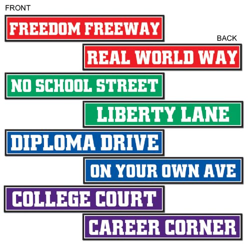 Graduation Street Sign Cutouts