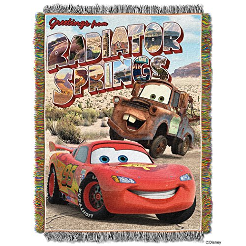 Disney Pixars Cars Greetings from Radiator Spring Tapestry Throw, 46 by 60