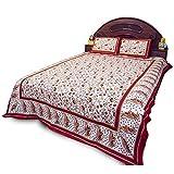 Royal Red Barmeri Pure Cotton Double Bedsheet Set 359
