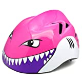 M Merkapa Kids Bike Helmet Adjustable 3D Shark Bicycle Helmets for Toddler and Youth (Pink Shark M) (Color: Pink Shark, Tamaño: M: 52 - 56cm(20.5 - 22 inches))