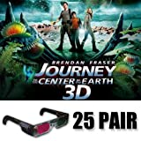 Journey to the Center of the Earth 3D Glasses Party Pack (GLASSES ONLY 25 pair)