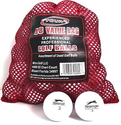 Slazenger 48 Recycled Golf Balls in Mesh Bag