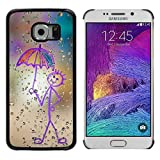 TopCaseStore Snap On Hard Back Shell Rubber Case Protection Skin Cover Happy Rain Window Painting Samsung Galaxy S6 EDGE SM G925