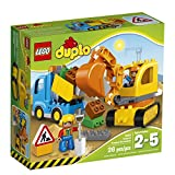 LEGO DUPLO Town 10812 Truck & Tracked Excavator Building Kit (26 Piece)