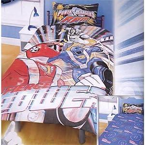 Childrens/Kids Power Rangers RPM Print Reversible Quilt/Duvet Cover Bedding Set (Single Bed) (Blue)