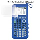Silicone Case for Ti 84 Plus CE Calculator (Blue) - Cover for Texas Instruments Ti-84 Graphing Calculator - Silicon Skin for Ti84 Plus - Protective & Anti-Scretch Cases - Ti 84 Accessories by Sully (Color: Blue)