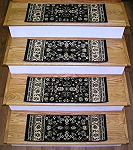 148709 rug depot premium carpet stair treads 26 x 9 stair treads black background set - Rugs and runners to match ...