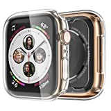 Monoy Case for Apple Watch Series 4 Screen Protector 44mm, [3-Pack] All Around Soft TPU Protective Cover Case for iWatch 4 44mm (Clear) (Color: Clear)