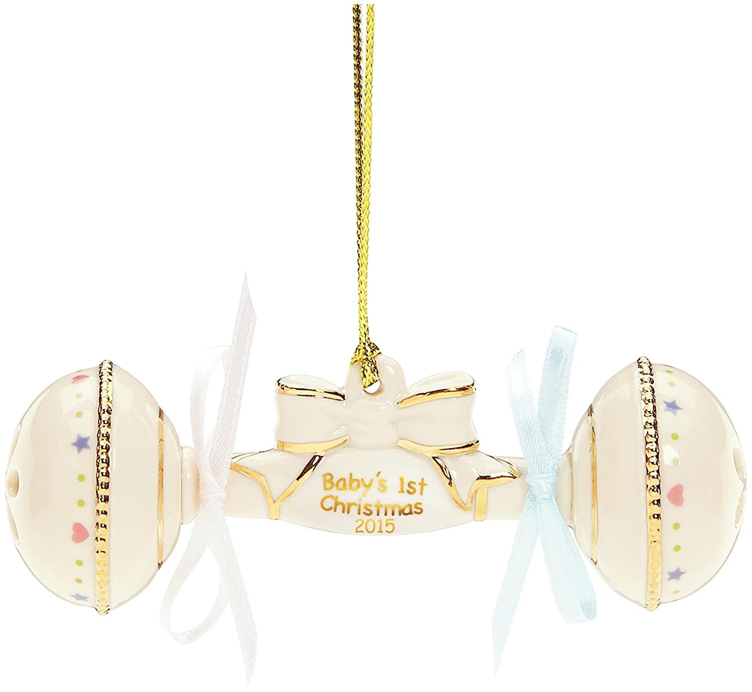 Lenox 2015 Baby's First Christmas Rattle Ornament