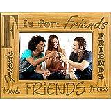 Giftworks Plus NAM2001 Friends, Alder Wood Frame, 5 x 7 In