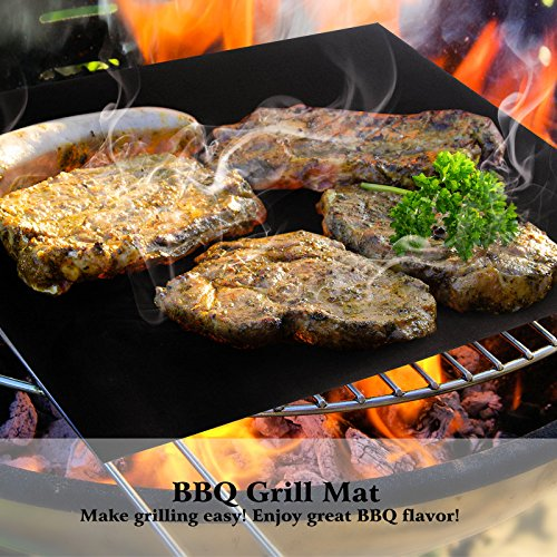 Becko BBQ Grills Mat Non-stick Reusable Baking Mats for Grilling Meat, Veggies, Seafood, Eggs - Ideal for Charcoal Grill / Gas Grill / Electric Grill (L & M Size) (Jenn Oven Parts compare prices)