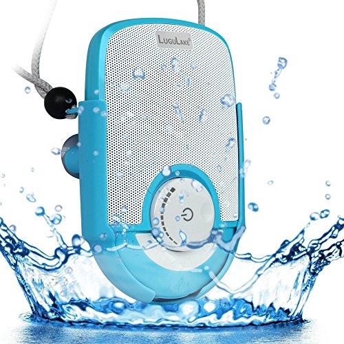 LuguLake 防水耐衝撃 Bluetoothシャワースピーカー 充電式 ポータブル ワイヤレス スピーカー  吸盤付 内臓マイク ハンズフリー通話 お風呂場、バスルーム、プール、ボート、車、キッチン、ビーチ、アウトドア適用 iPhone/ iPad / Androidスマートフォン対応(SOUL(ブルー))