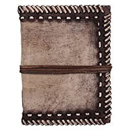 Rustic Town Handmade Leather Journal Notebook Diary Artist Grey Brown
