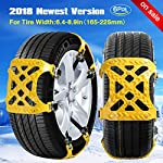 [2018 NEWEST VERSION] Snow Chain Snow Tire Chains for Truck/SUV Truck tire chains Tensioner Adjustable Snow Chains Tighteners Car Anti-Slip Tire Chains for Cars Tire Width with 6.4-8.9/Set of 6