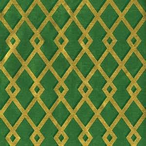 caspari rouleau de papier cadeau motif treillage vert dor 244 cm fournitures de bureau. Black Bedroom Furniture Sets. Home Design Ideas