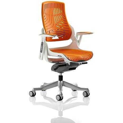 Dynamic EX000133 Zure - Silla ejecutiva con gel de elastómero, con reposabrazos, color naranja