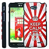 [ManiaGear] Design Graphic Image Shell Cover Hard Case (Keep Clam And Turbo On) for LG Optimus L90 by ManiaGear