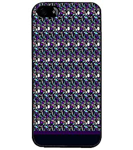PrintDhaba Pattern D-1832 Back Case Cover for APPLE IPHONE 4 (Multi-Coloured)