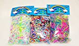 [Artasy ?][���s�A��i] DIY �~�b�N�X�S���Z�b�g �o���h�u���X���b�g (�u�������ʁ��⃉��) Loom Bands refill Pack - (1800) rubber ring Color: Rainbow Triple �摜