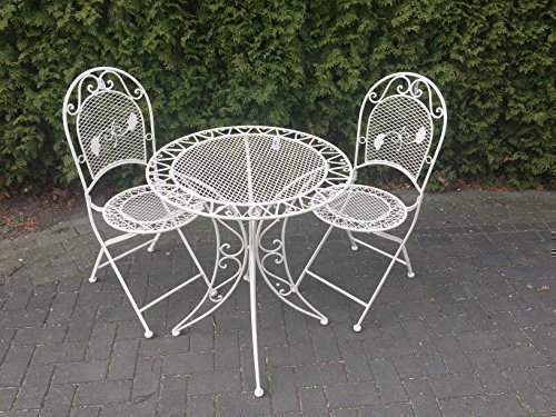 gartenm bel sitzgruppe garnitur balkon set metall tisch 2 st hle shabby altwei online kaufen. Black Bedroom Furniture Sets. Home Design Ideas