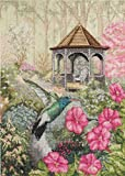 Bucilla 45480 Heirloom Counted Cross Stitch Picture Kits, Garden Hummingbird