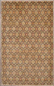 8'1 x 10'4 Double Knot Ziegler Chobi Design Area Rug with Wool Pile - | a 8x10 Large Rug | An Authentic Hand Knotted Chobi Ziegler Rug made with Vegetable dyes
