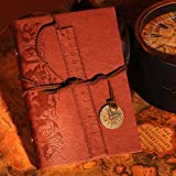 Valery®vintage Key String Classic Leather Notebook Diary Journal Daily Planner Retro Note Book 95 Blank Pages No.5 Brown
